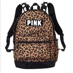 VS PINK leopard print back pack NWT